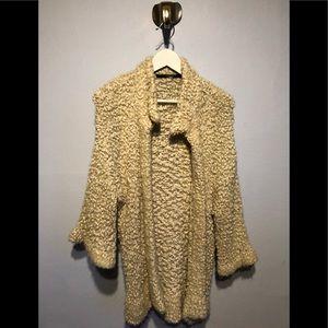 KENSIE -Cream Cardigan Sweater Top- Size Medium